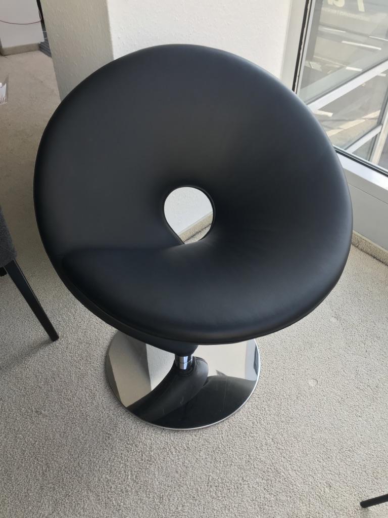 Tonon Sessel Questionmark in schwarz